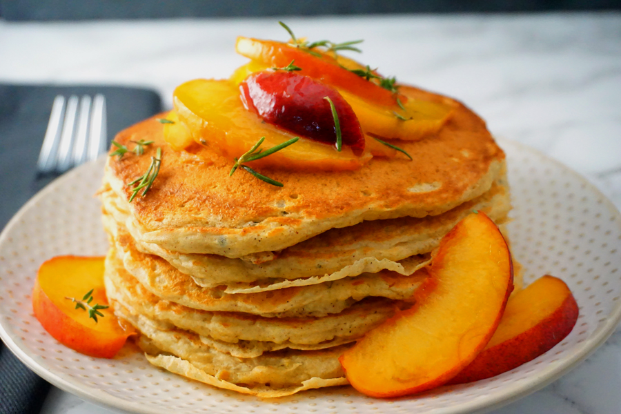Buttermilk Peach Pancakes