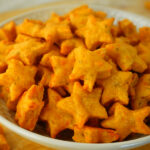 Homemade Cheez-Its and cheddar star crackers