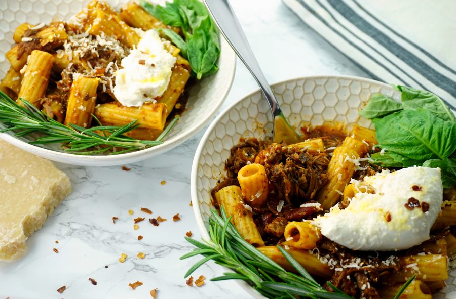 Instant Pot Cabernet-Braised Pot Roast Rigatoni