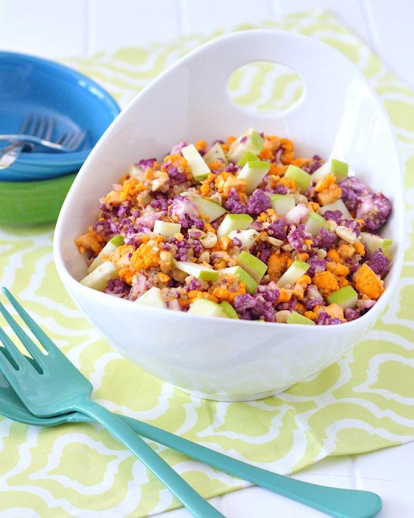 Cauliflower Cashew Confetti Salad by Spabettie