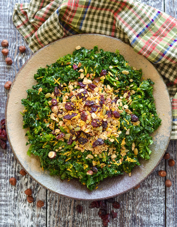 Massaged Kale Salad with Savoury Granola by A Virtual Vegan