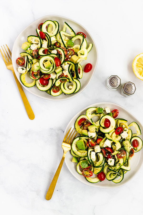 Tomato, Avocado Zucchini Salad by Pass Me Some Tasty