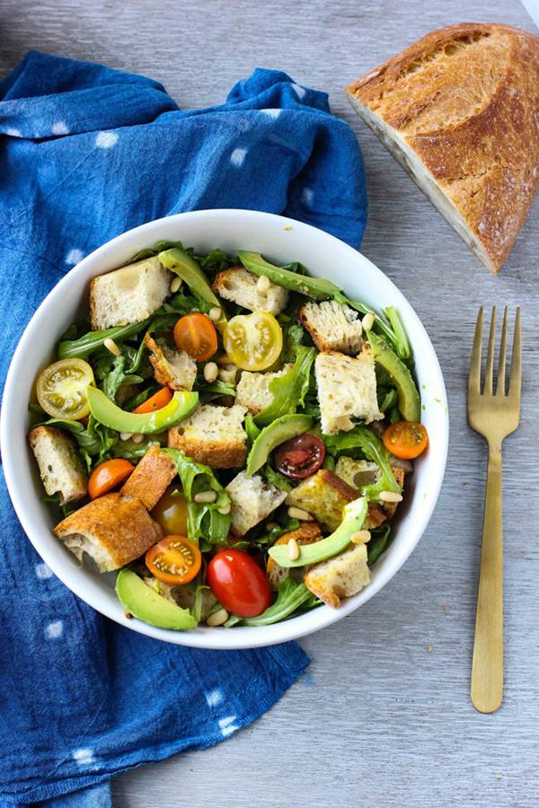 Avocado Panzanella Salad by I Heart Vegetables