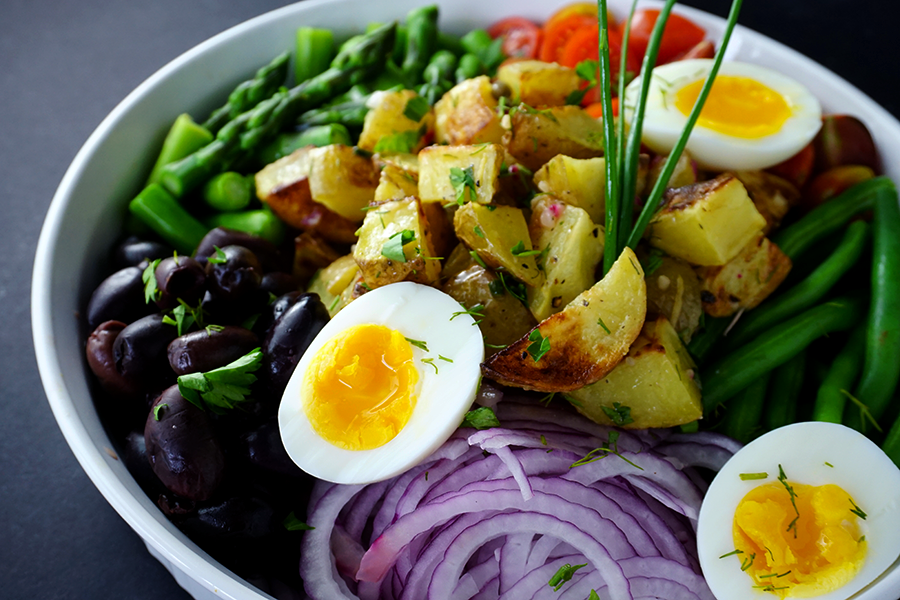 Spring Vegetable Nicoise Potato Salad