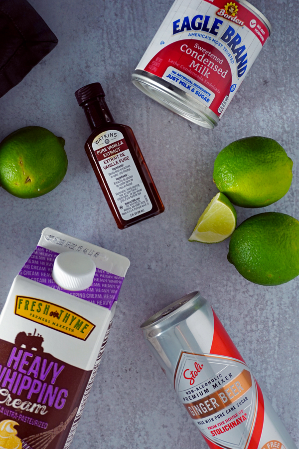 ingredients for making moscow mule ice cream